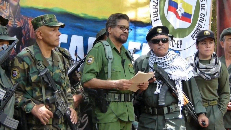 Ivan Marquez eta Jesus Santrich FARC-EPko buru ohitzat jo izan dira, eta haiek atzemateko agindu du JEPek, besteak beste. ©EFE