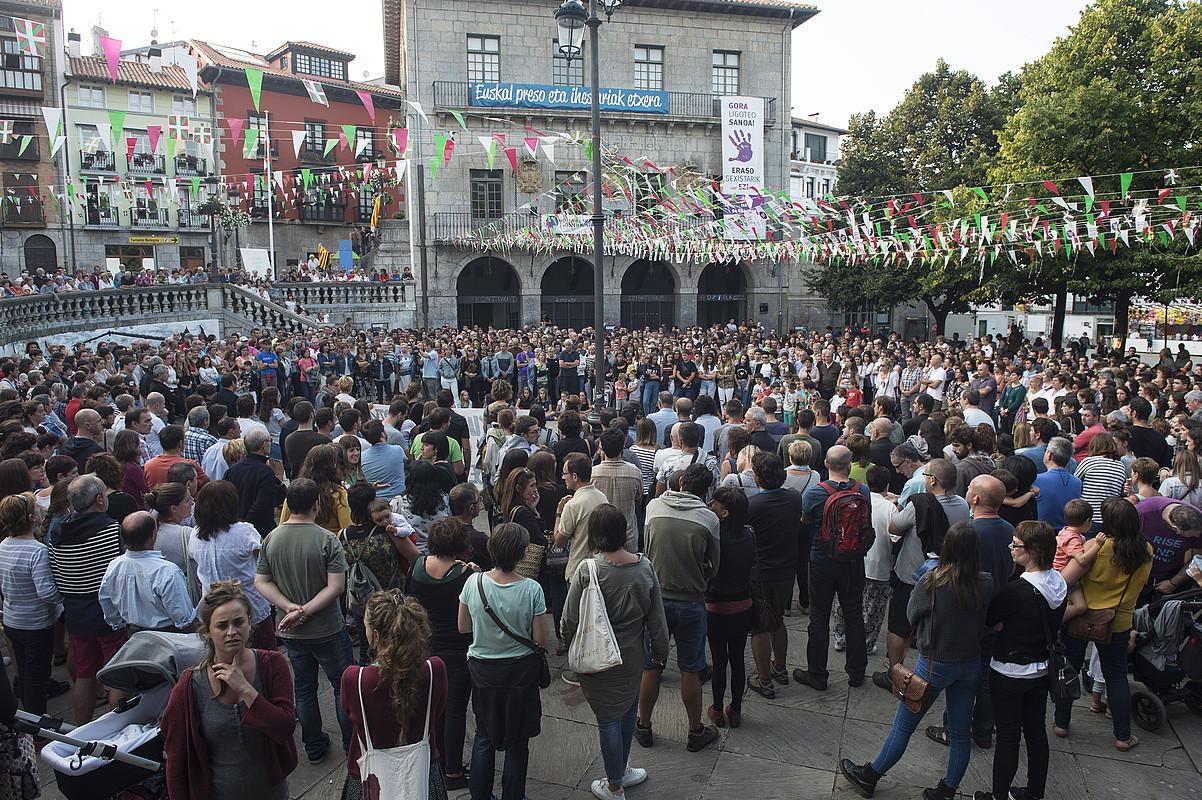 Sexu eraso baten osteko manifestazioa, Lekeition. ©MONICA DEL VALLE / FOKU