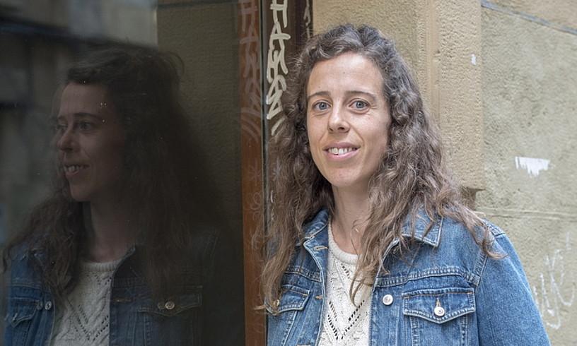 Irati Goikoetxea, Igartza sariaren irabazlea, atzo, Donostian. ©JUAN CARLOS RUIZ / FOKU