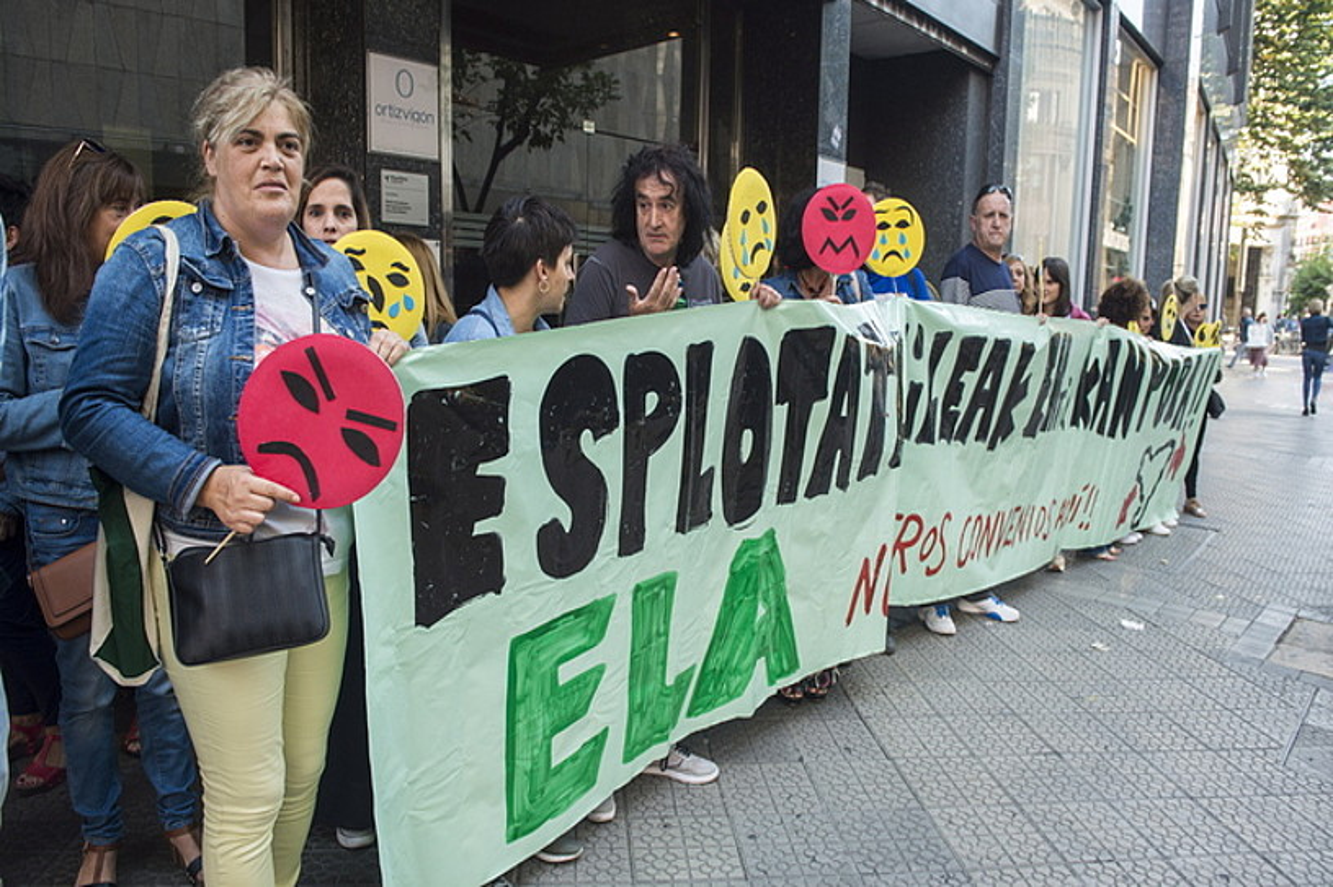 ELAren protesta atzo, Bilbon. ©MONIKA DEL VALLE / FOKU