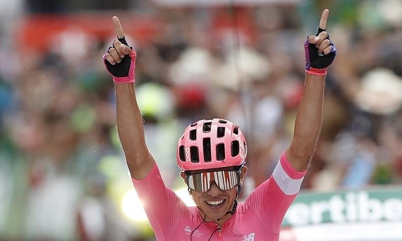 Sergio Andres Higuita, Vueltako 18. etapa irabazi berritan, atzo. ©JAVIER LIZON / EFE