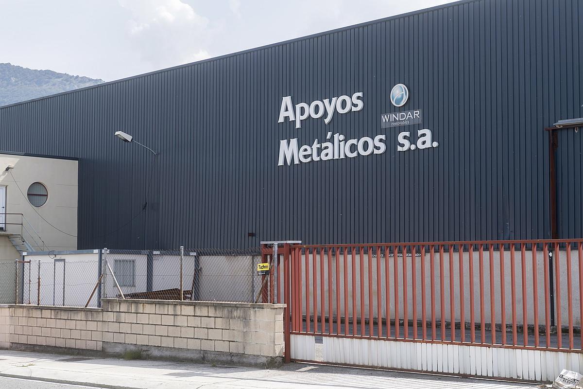 Olatzagutiko Apoyos Metalicos lantegia, atzo. ©JUANAN RUIZ / FOKU