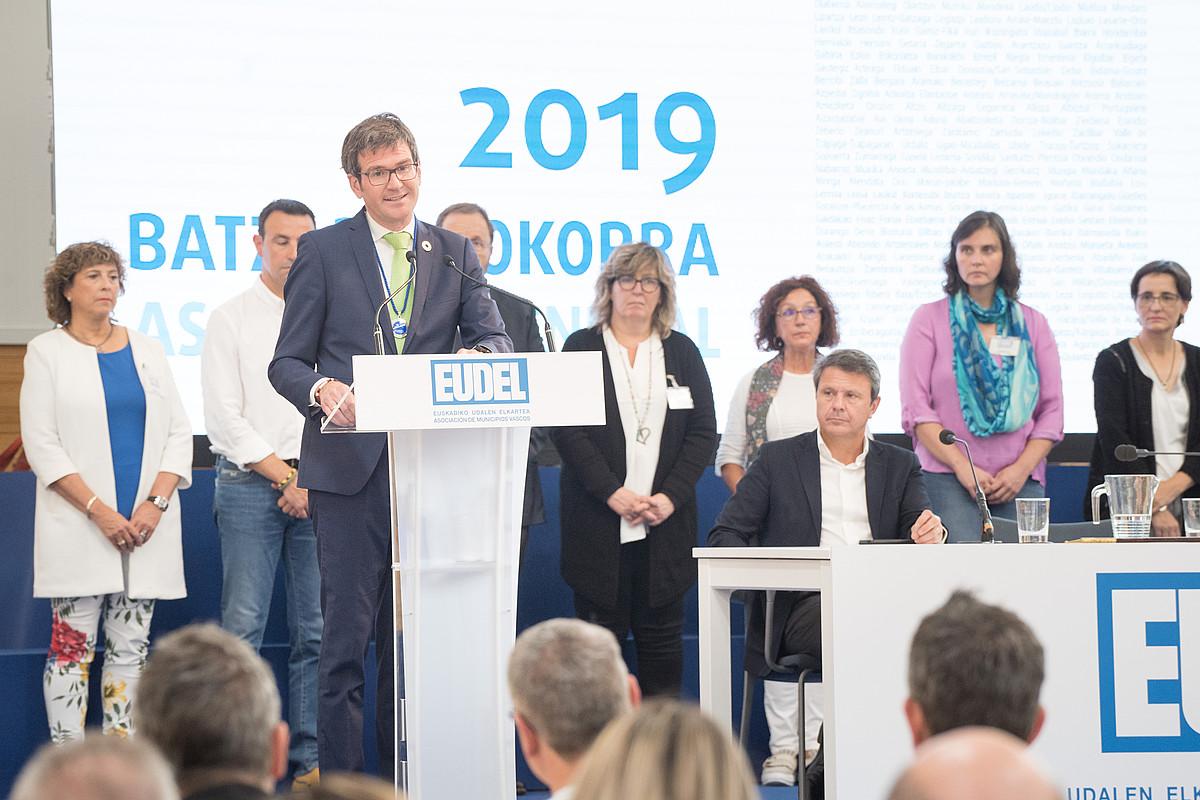 Gorka Urtaran, Eudeleko presidente kargua hartu berritan.