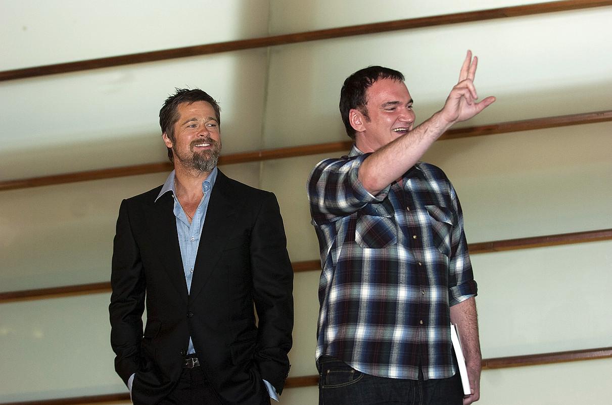 Brad Pitt eta Quentin Tarantino izan ziren izar nagusiak 2009ko Zinemaldian. ©JUAN CARLOS RUIZ / FOKU