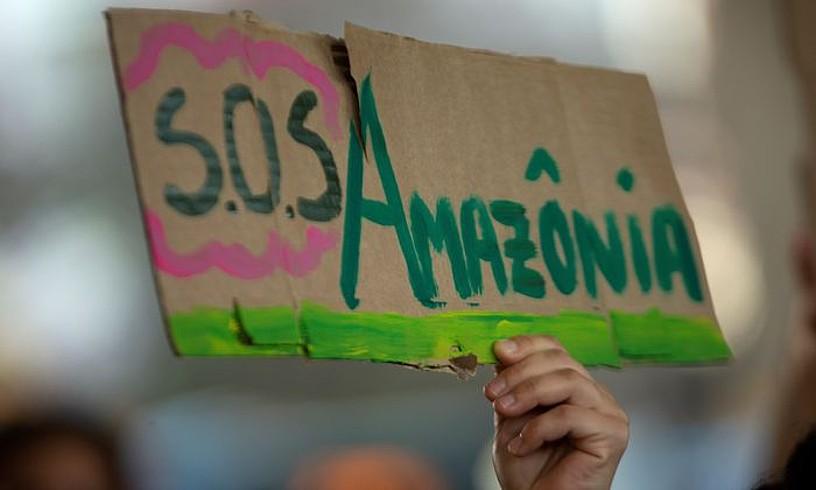 Amazoniaren egunean protesta egin zuten Brasilia hiriburuan. ©JOEDSON ALVES / EFE