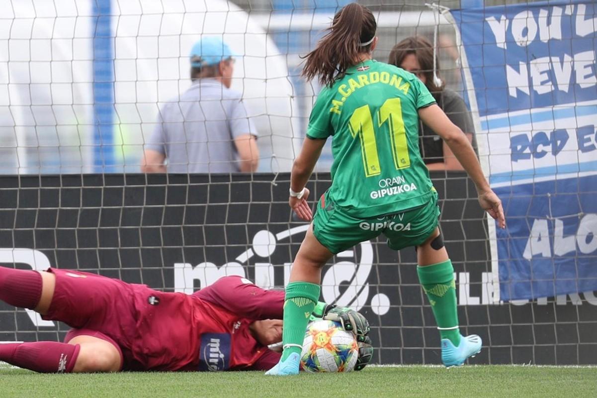 Marta Cardona, atzo. Berak sartu zuen partidako gol bakarra. ©ESPANYOL
