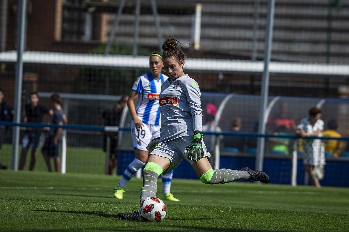 Adriana Nanclares Realeko atezaina Euska Herria Kopako finalean. ©ARITZ LOIOLA / FOKU
