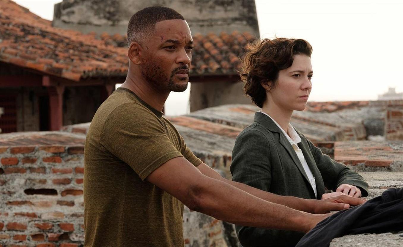 Will Smith eta Mary Elizabeth Winstead aktoreak filmeko eszena batean. ©BERRIA