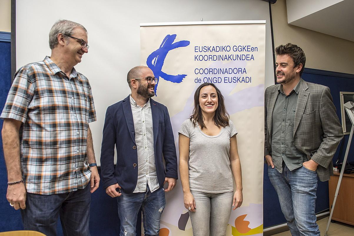Carlos Askunze, Eneko Calle, Saioa Polo eta Luca Gervasoni, atzo, Bilbon. ©MARISOL RAMIREZ / FOKU