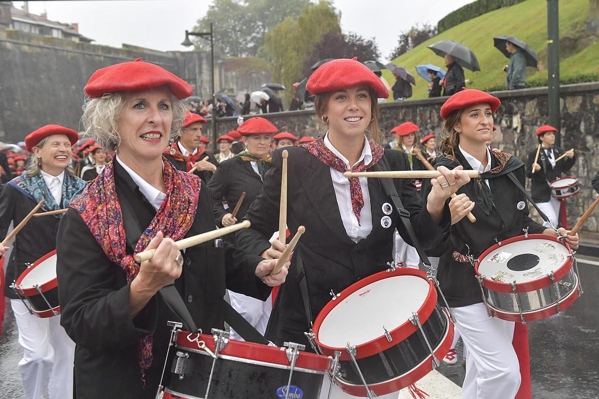 Jaizkibel konpainiaren desfilea, aurten. ©IDOIA ZABALETA / FOKU