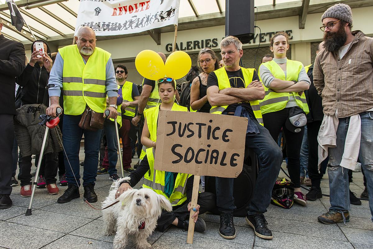 Jaka Horien protesta bat, Miarritzen. ©GUILLAUME FAUVEAU