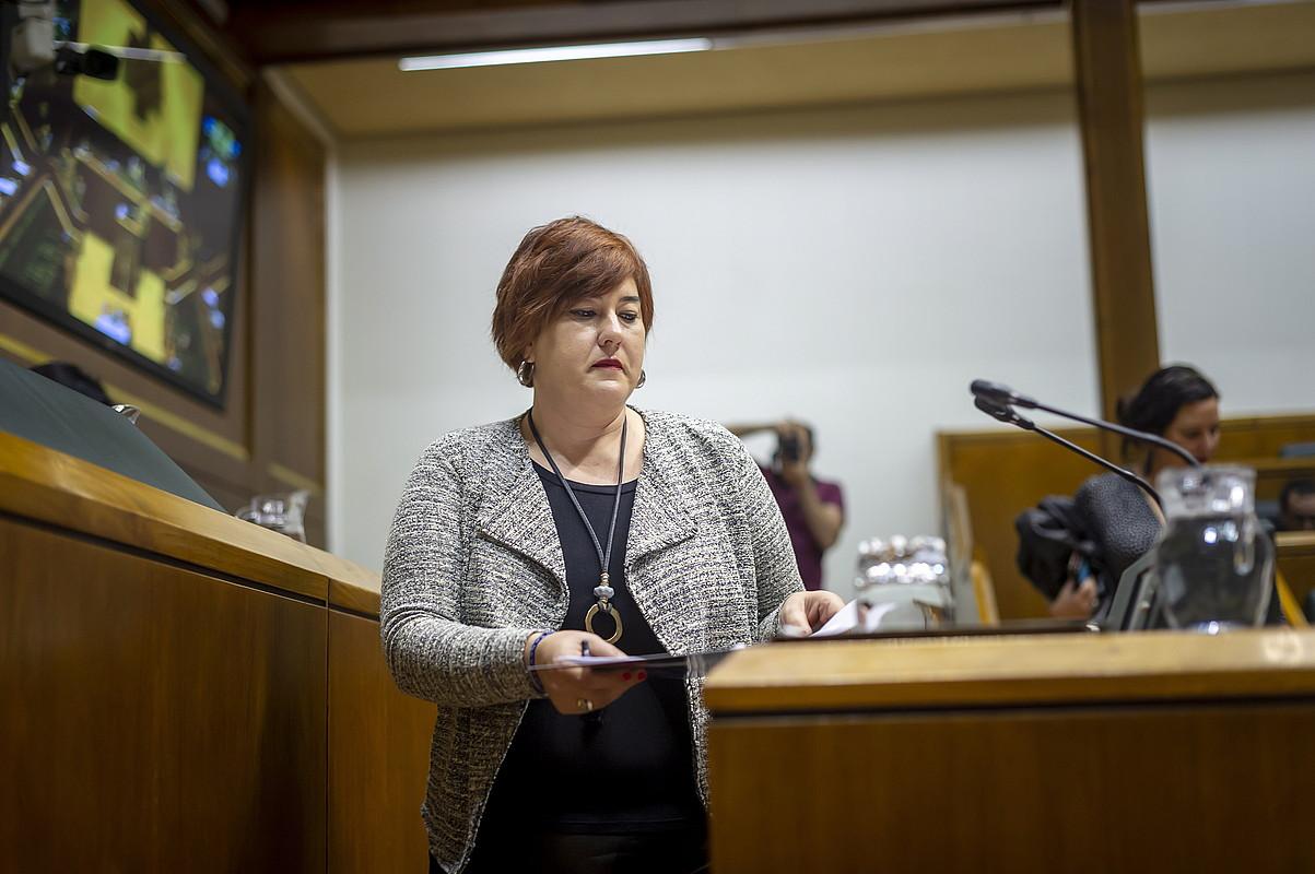 Eva Blanco, Eusko Legebiltzarrean, iazko azaroaren 15eko saioan. ©J. F. / FOKU