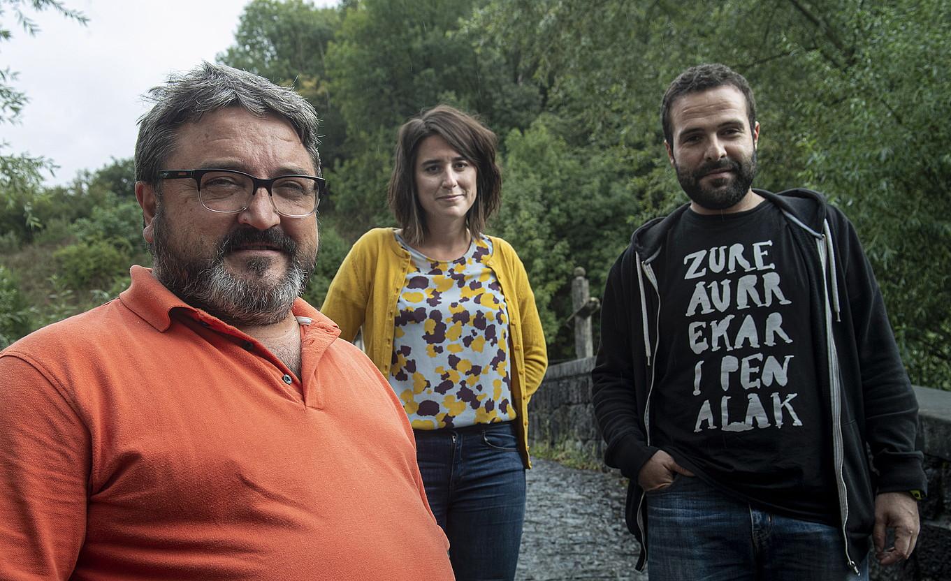 Inaxio Usarralde, Maite Berriozabal eta Iker Iriarte gai jartzaileak. ©JON URBE / FOKU