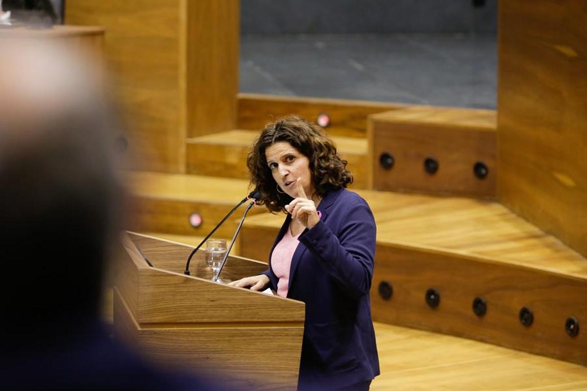 Navarra Sumako Marta Alvarez atzo, parlamentuan. ©NAFARROAKO PARLAMENTUA