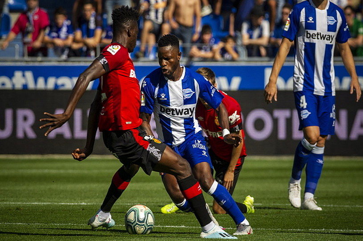 Wakaso Mubarak, Mallorcaren aurkako partidan. ©JAIZKI FONTANEDA / FOKU