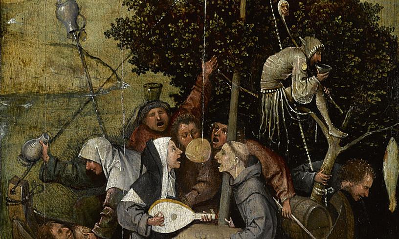 Jeronimo Boschek 1503an margotu zuen <em>Zoroen ontzia</em>, Sebastian Branten liburu homonimoa oinarri hartuta. ©BERRIA
