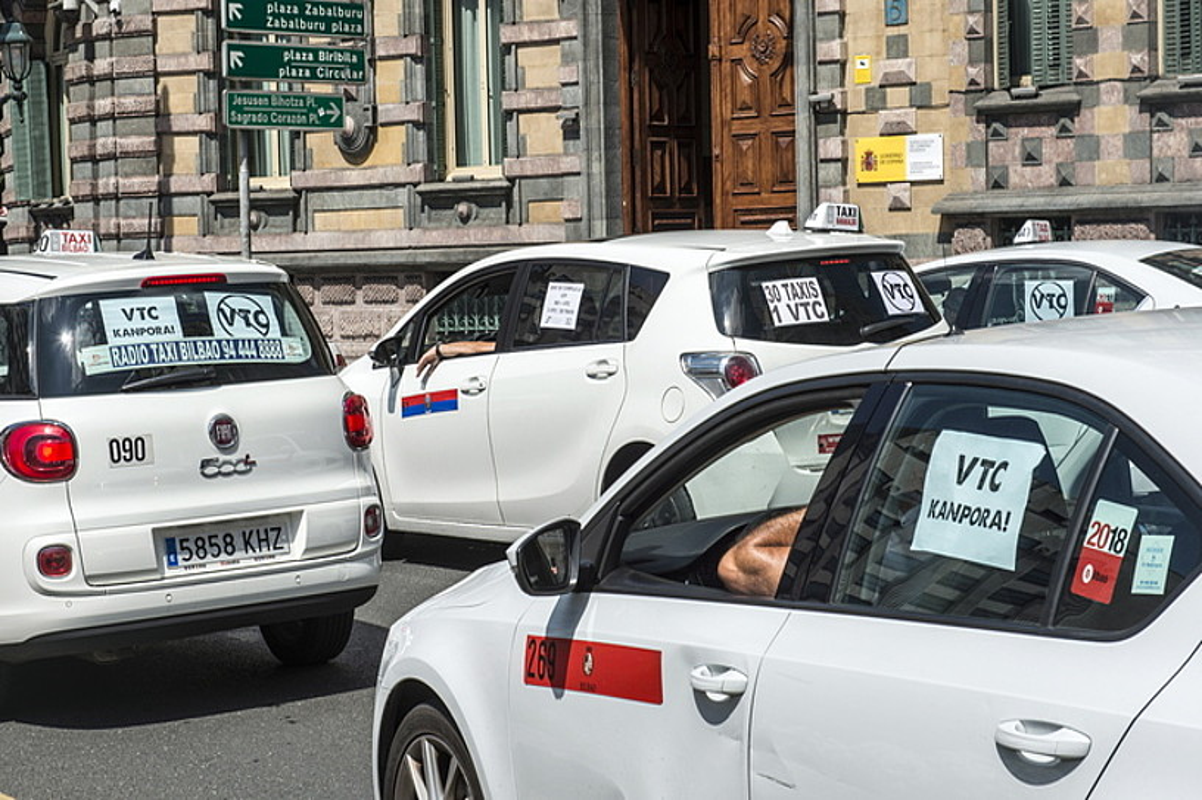 Taxilarien iazko mobilizazioak, Bilbon. ©MARISOL RAMIREZ / FOKU