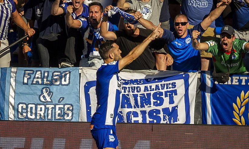 Lucas Perez, Mallorcari sartutako gola ospatzen. ©JAIZKI FONTANEDA / FOKU