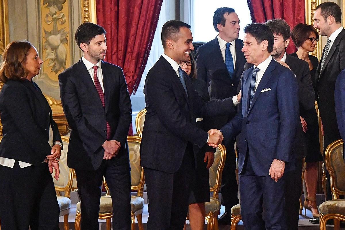 M5S-PD koalizioa dago agintean Italian, irailetik; aurrez, Lega-M5S egon zen boterean, urtebete baino gehiago. ©A. DI MEO / EFE