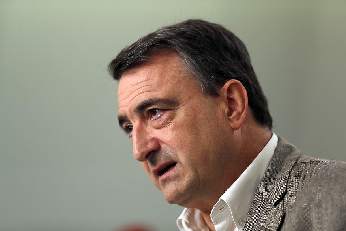 Esteban EAJren Espainiako Kongresuko eleduna, atzo, Bilbon. ©LUIS TEJIDO / EFE