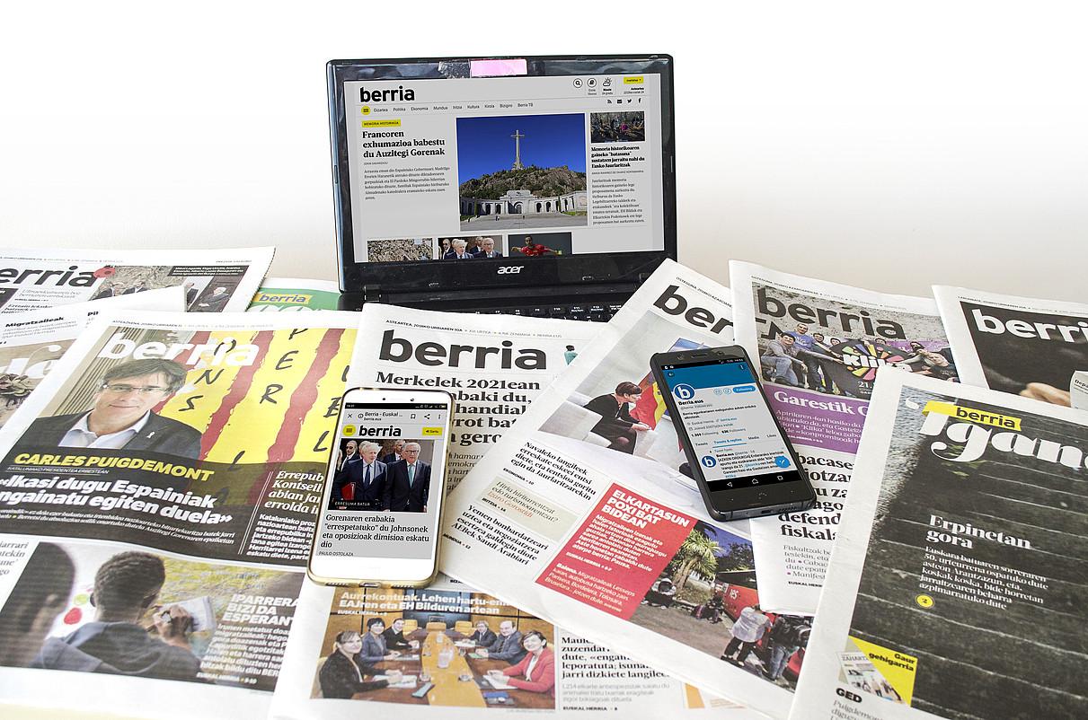 Egunkaria soilik ez, euskarazko hedabide multimedia da BERRIA. ©BERRIA