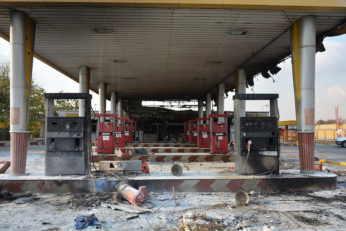Gasolina zerbitzugune bati su eman zioten asteburuan Islamxahr herrian, Teherandik gertu.