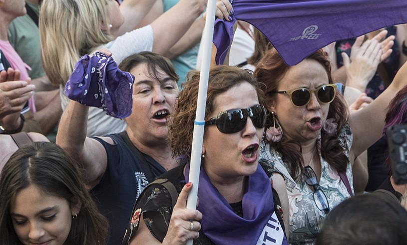 Emakumeen aurkako indarkeria salatzeko protesta bat. ©JAGOBA MANTEROLA / FOKU