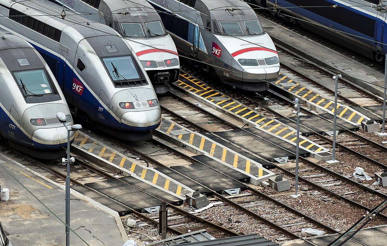 Frantziako SNCF operadorearen trenak. ©IAN LANGSDON / EFE