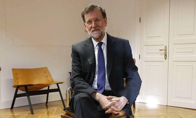 Mariano Rajoy Espainiako gobernuburu ohia, Madrilen, egunotan Eferi emandako elkarrizketan. ©PACO CAMPOS / EFE