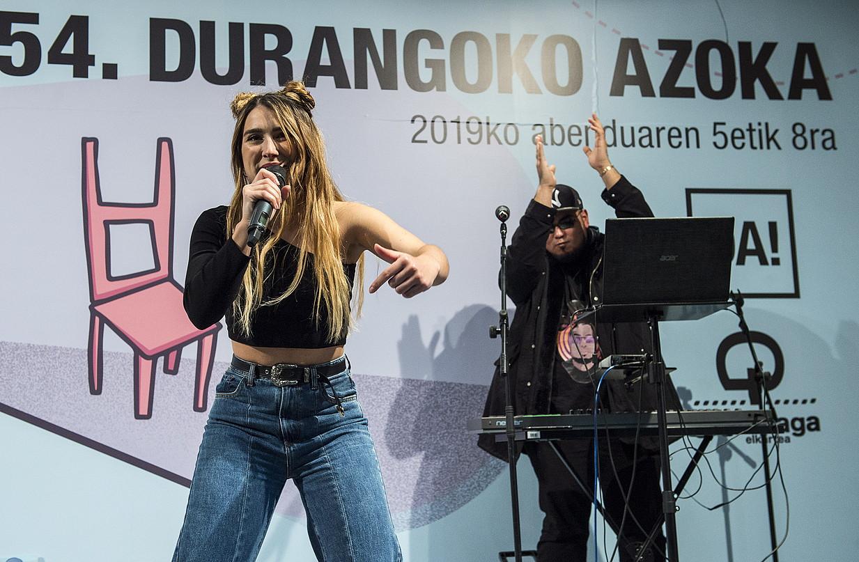 Iratxe Aguilera musikagilea, atzo, bere proiektua aurkezten. ©MARISOL RAMIREZ / FOKU