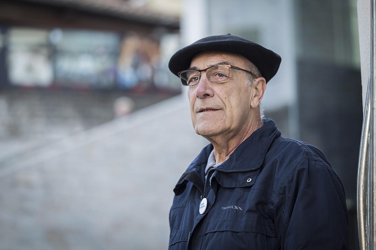 Jose Ramon Lopez de Abetxuko preso ohia, Gasteizen. ©ENDIKA PORTILLO / FOK