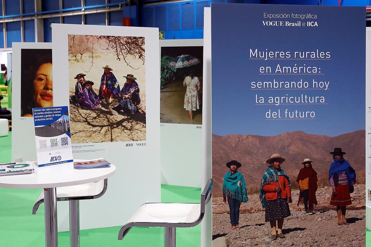 Amerikako emakume nekazariei buruzko erakusketa, COP25ean. ©EFE