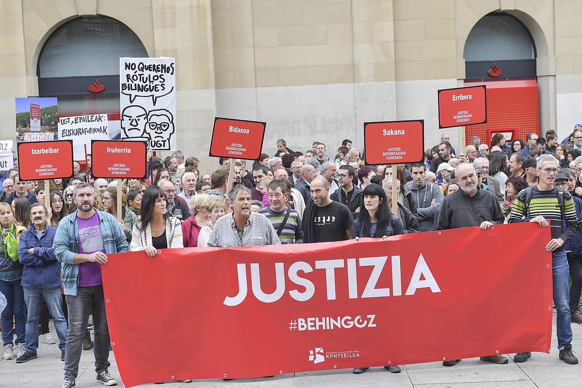 Euskararen dekretua baliogabetzearen aurkako protesta. ©IDOIA ZABALETA / FOKU