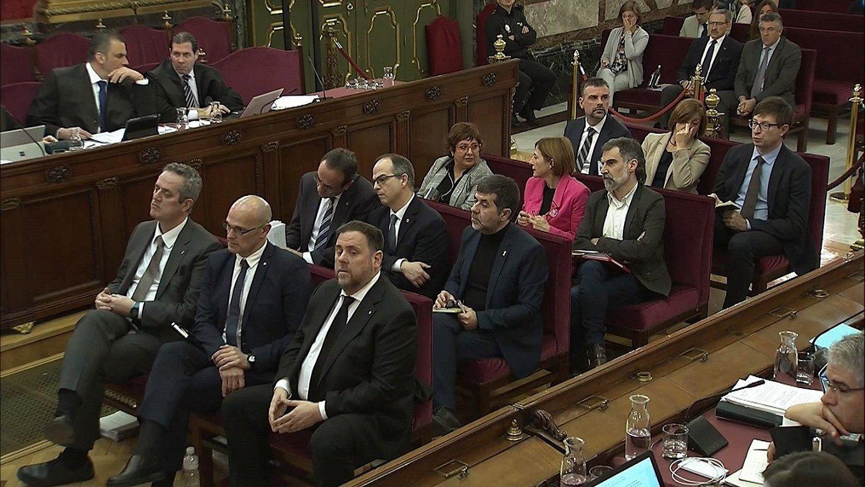 Kataluniako prozesu independentistaren kontrako auzia, joan den maiatzean, Espainiako Auzitegi Gorenean. ©EFE