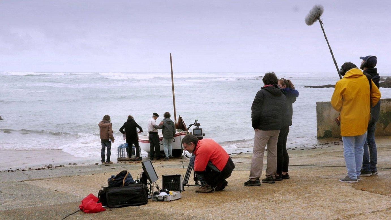 <em>Ito</em> film laburraren grabaketa, Lapurdiko kostaldean, sei zinema egile gazteren eskutik. ©LOIC LEGRAND