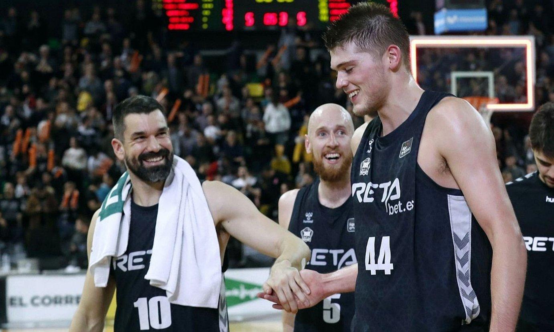 Martinez, Schreiner eta Lammers, joan den azaroan, Real Madrili ACB ligan irabazi ondoren, Miribillan. ©LUIS TEJIDO / EFE