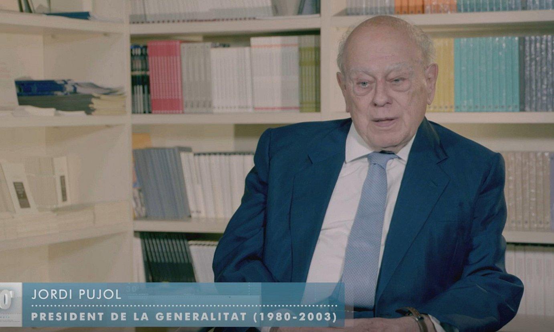Jordi Pujol Generalitateko presidente ohia TV3eko <em>30 minuts</em> saioan azaldu zen igandean. ©BERRIA