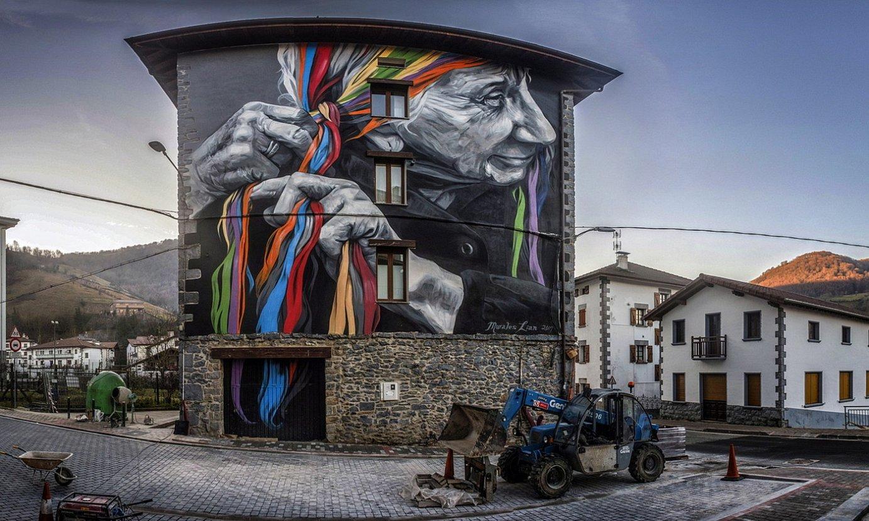 Lianek Leitzako Atekabeltz gaztetxean egindako murala munduko ehun onenen artean sailkatu dute. ©JON URBE / FOKU