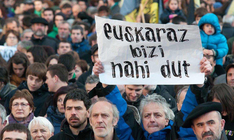Euskararen aldeko manifestazio bat, Iruñean. ©OIARTSO LOS ARCOS / FOKU