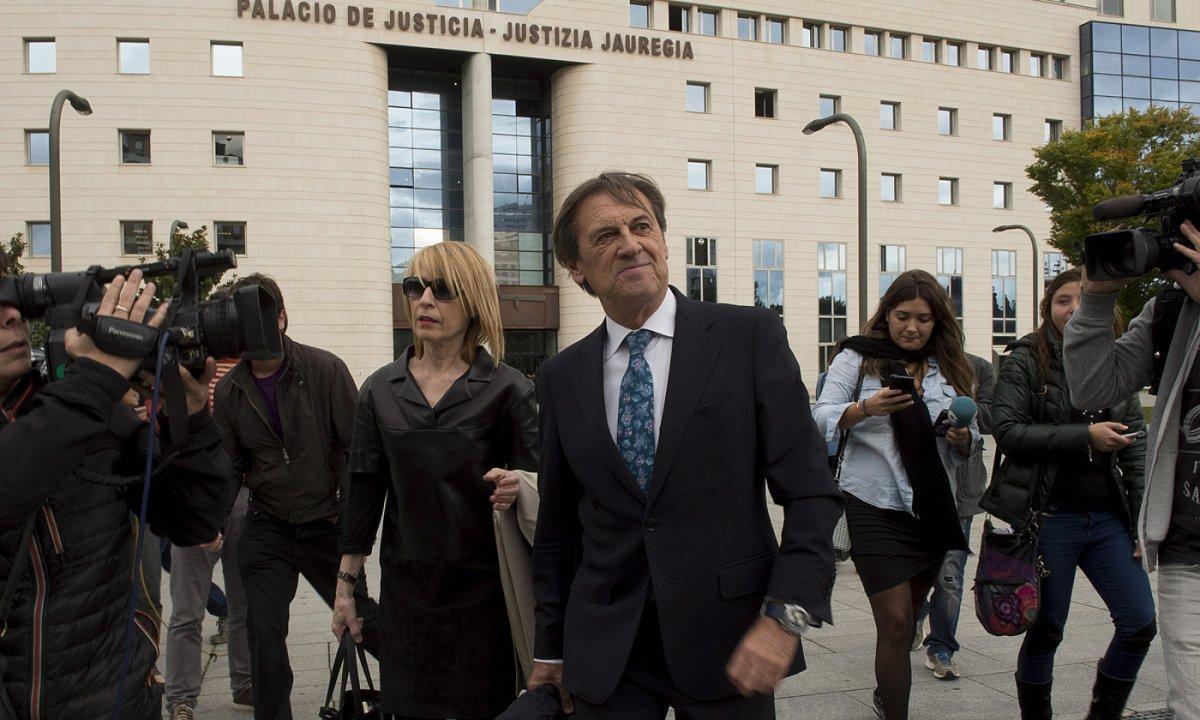 Miguel Artxanko, 2015eko urriaren 5ean, epaitegira deklaratzera joan zenean. ©IÑIGO URIZ / FOKU