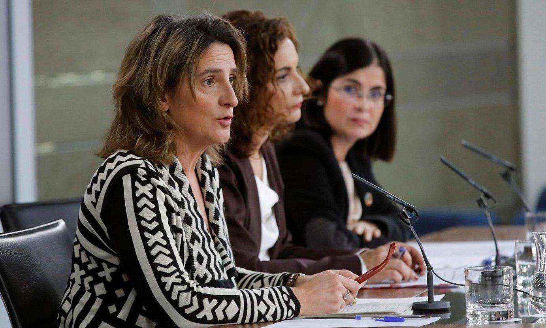 Maria Teresa Ribera Trantsizio Ekologikorako ministroa, atzo. ©J. C. HIDALGO / EFE