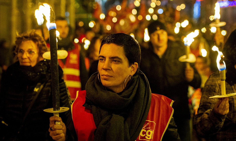 Gauez egin zuten manifestazioa, herenegun, Baionan. ©GUILLAUME FAUVEAU