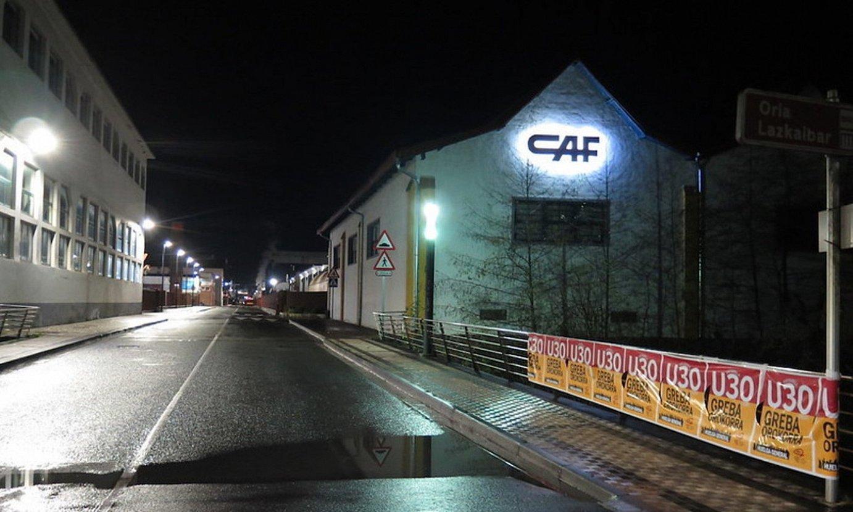 CAF enpresaren Besaingo lantokia hutsik, atzo goizean. ©GOIERRIKO HITZA
