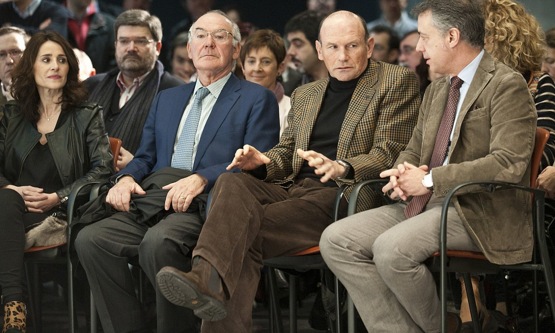 Jose Antonio Ardanza, Juan Jose Ibarretxe eta Iñigo Urkullu, 2013an, Bilbon, EAJren Aberri Batzarrean. ©JON HERNAEZ / FOKU