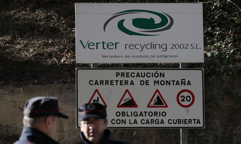 Verter Recycling enpresaren kanpoaldea. ©LUIS TEJIDO / EFE