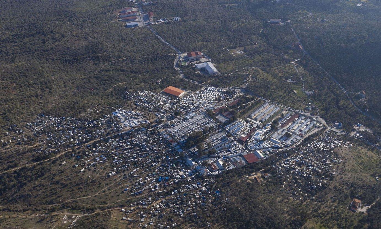 <b>Moria.</b> 20.000 iheslari daude 2.500entzat prestatutako eremu batean. ©DIMITRIS TOSIDIS / EFE