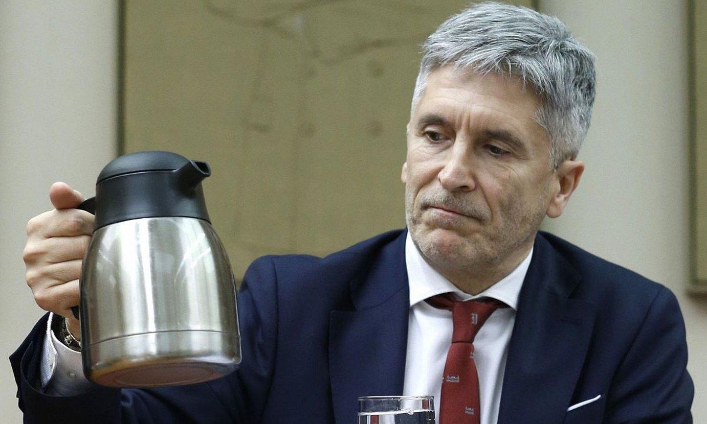 Fernando Grande-Marlaska, atzo, Espainiako Kongresuan. ©JAVIER LIZON / EFE