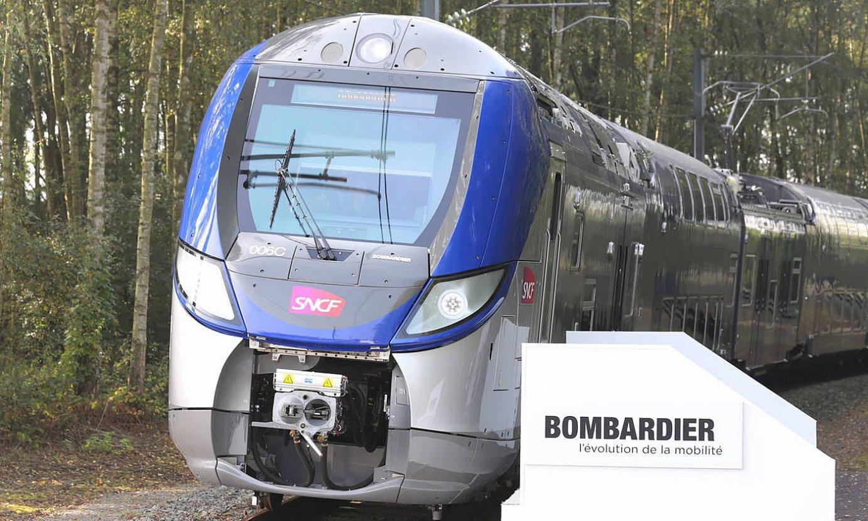 Bombardierren tren baten probak, konpainiaren probaleku batean. ©BOMBARDIER