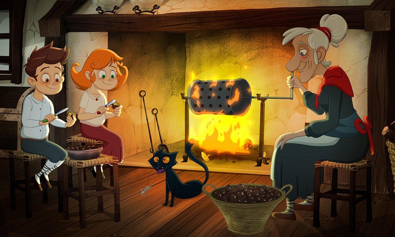 <em>Lur eta Amets</em> animaziozko filmaren fotograma bat. ©LOTURA FILMS