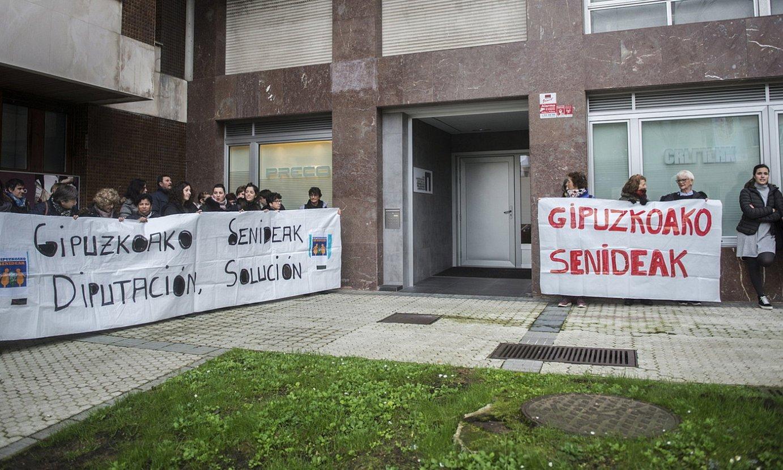 Senideek egindako protesta, artxiboko irudi batean. ©GORKA RUBIO / FOKU
